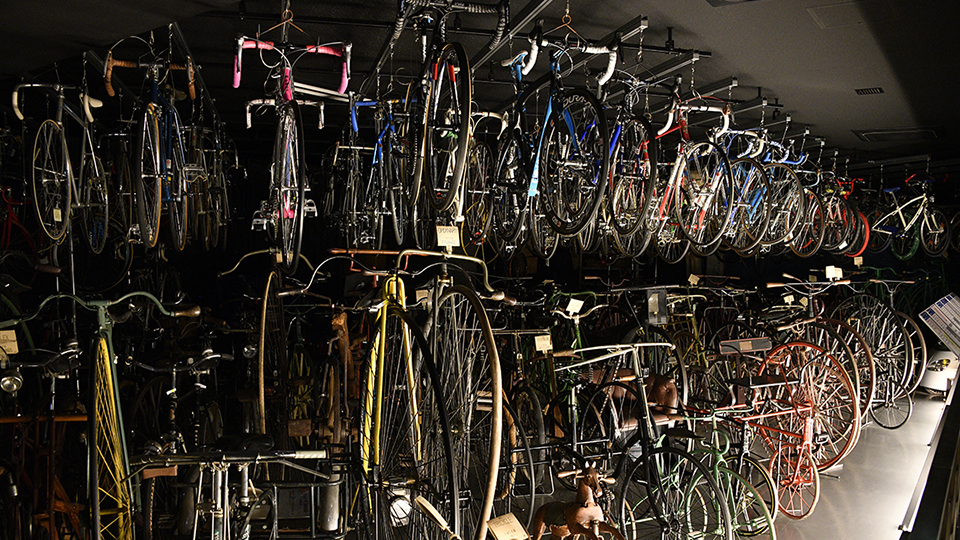 <p>The Bicycle Museumhas a large collection of vintagecyclesin storage.</p>